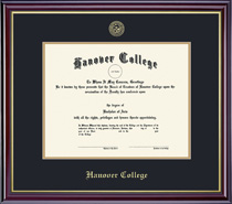 Windsor Diploma Frame Double Matted in Gloss Cherry Finish