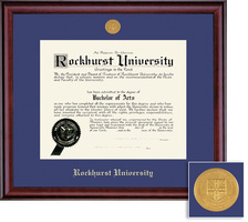 Framing Success Classic Diploma Frame in a Burnished Cherry Finish with a Single Mat
