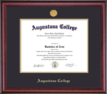 Classic Medallion Double Matted Diploma Frame in a Burnished Cherry Finish