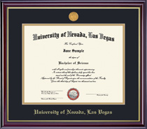 Framing Success  PhD Windsor Medallion Double Matted Diploma Frame