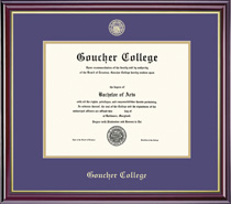 Windsor Double Matted Diploma Frame in Gloss Cherry Finish