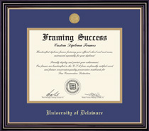 Prestige Medallion Double Matted Diploma Frame in Satin Black Finish