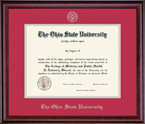 Classic Embossed Double Matted Diploma Frame in a Burnished Cherry Finish