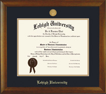 Bamboo MedallionDouble Matted Diploma Frame in Natural Bamboo Grain