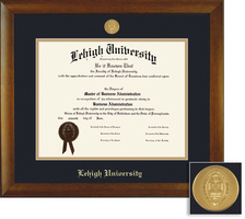 Framing Success Bamboo Medallion Double Matted Diploma Frame in Natural Bamboo Grain