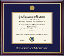 Framing Success Windsor Medallion Double Matted Diploma Frame in Gloss Cherry Finish