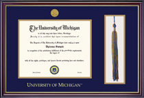 Windsor Medallion Double Matted Diploma Frame with Tassel Cut Out