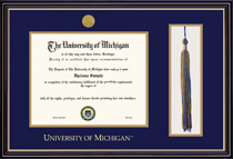 Prestige Medallion Double Matted with Tassel Cut Out