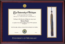Classic Medallion Double Matted Diploma Frame Tassel Cut Out