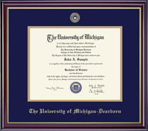 Windsor 12 Pres Double Matted Diploma Frame in Gloss Cherry Finish
