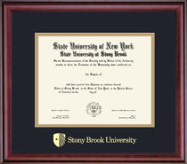 Classic Double Matted Diploma Frame in Burnished Cherry Finish