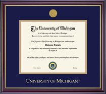 Windsor Doctorate Medallion Double Matted Diploma Frame in a High Gloss Cherry Finish