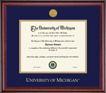 Framing Success Classic Doctorate Medallion Double Matted Diploma Frame