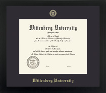 Framing Success Spirit Diploma Frame in Contemporary Black Matte Finish