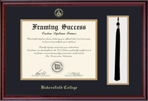 Classic DipTasselDouble Matted Diploma Frame in Burnished Cherry Finish