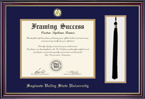 Windsor DiplomaTassel Double Matted Diploma Frame in Gloss Cherry Finish