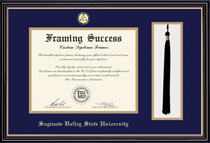 Prestige DiplomaTassel Double Matted Diploma Frame in Satin Black Finish