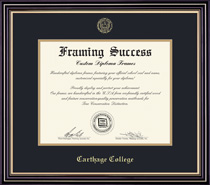 Prestige Double Matted Diploma Frame in Satin Black Finish