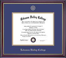 Framing Success Windsor Diploma Frame Double Matted in Gloss Cherry Finish, Gold Trim