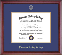 Classic Diploma Frame Double Matted in Burnished Cherry Finish