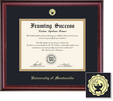 Framing Success Classic Diploma Frame Double Matted in Burnished Cherry Finish