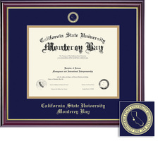 Framing Success Windsor Diploma Frame, in a Gloss Cherry Finish, Gold Trim