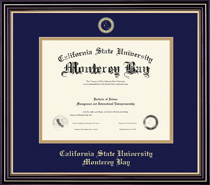 Prestige Diploma Frame Double Matted, in Satin Black Finish