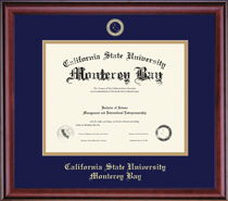 Classic Diploma Frame Double Matted, in a Burnished Cherry Finish
