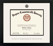 Spirit Executive Diploma Frame, in a Contemporary Black Matte Finish