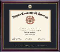 Windsor Diploma Frame, in Gloss Cherry Finish, Gold Trim