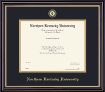 Prestige Diploma Frame, in Satin Black Finish, Gold Trim