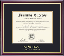 Windsor Law Diploma Frame, in Gloss Cherry Finish, Gold Trim