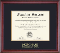 Classic Law Diploma, in a Burnished Cherry Finish