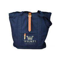 Tote with Leather Buckle Accents