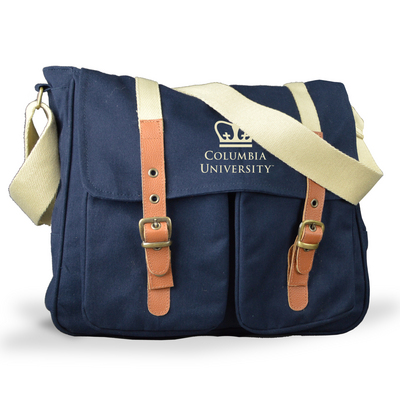 Messengar Bag with Leather Buckle Accents