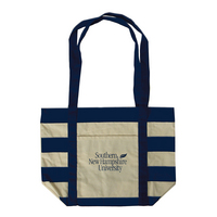 Carolina Sewn Striped Accent Tote