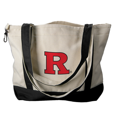 Rutgers Scarlet Knights Carolina Sewn Medium Canvas Tote