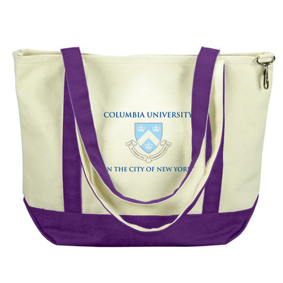 Columbia University Carolina Sewn Medium Canvas Tote