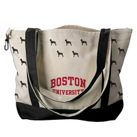 Boston Terriers Carolina Sewn Medium Canvas Tote