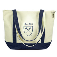 Emory Eagles Carolina Sewn Medium Canvas Tote