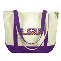 LSU Tigers Carolina Sewn Medium Canvas Tote