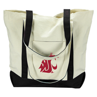 Washington State Cougars Carolina Sewn Large Canvas Tote