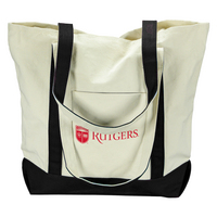 Rutgers Scarlet Knights Carolina Sewn Large Canvas Tote