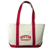 Boston Terriers Carolina Sewn Large Canvas Tote