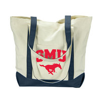 SMU Mustangs Carolina Sewn Large Canvas Tote