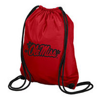 Ole Miss Carolina Sewn String Backpack