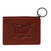 Troy University Carolina Sewn Leather ID Holder