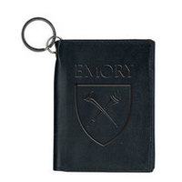 Emory Eagles Carolina Sewn Leather ID Holder