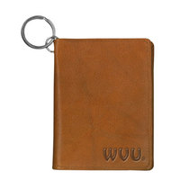 WVU Mountaineers Carolina Sewn Leather ID Holder