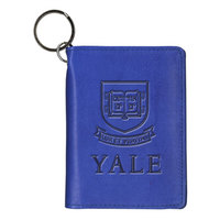 Yale Bulldogs Carolina Sewn Leather ID Holder
